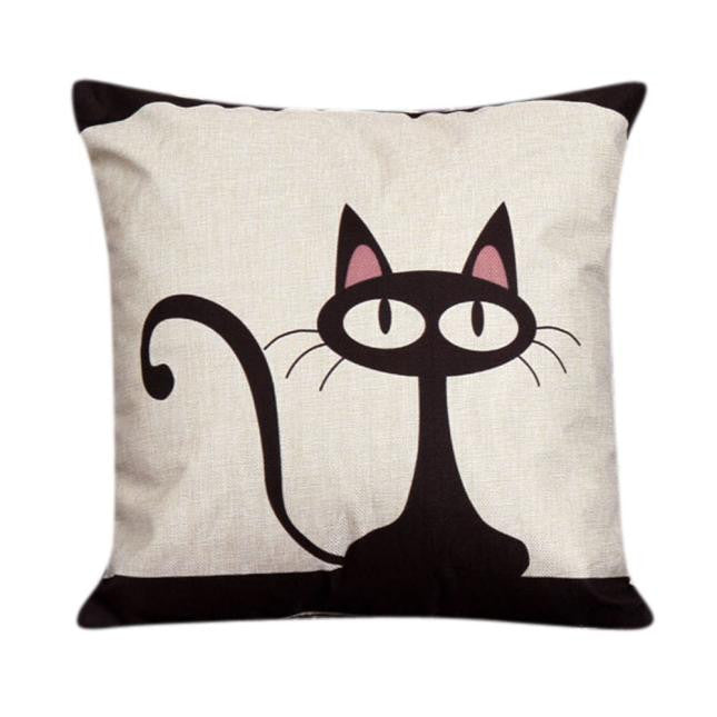 Slinky Cat Throw Pillow Cushion Cover