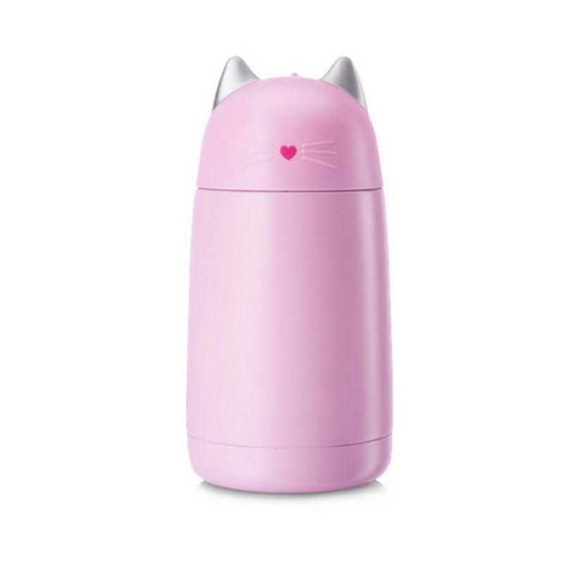Coffee Cat: Portable Heat Insulated Stainless Steel Vacuum Flask