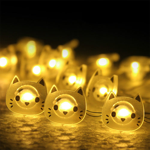 Kitty Cat Shaped 20 LED Fairylights