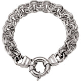 10.5mm Solid Double Cable Bracelet