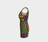 'ROXBOROUGH' TRIBAL BODY CON DRESS