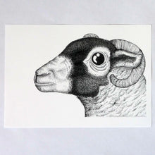 Load image into Gallery viewer, The Swaledale Ewe risograph print