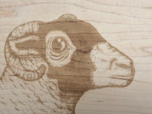 Load image into Gallery viewer, The Swaledale Ewe Small Bevelled Board