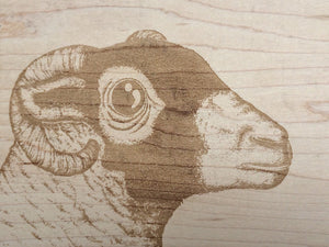 The Swaledale Ewe Medium Bevelled Board