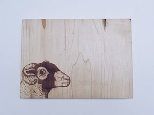 The Swaledale Ewe Small Bevelled Board