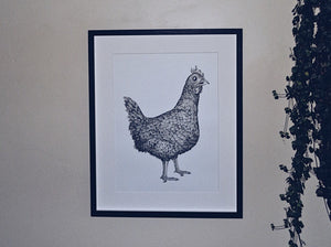 The Brough Chicken Print