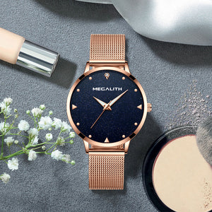 Megalith 8002M Classic Mesh Elegant Watch with Women - New Wrist Watch Release