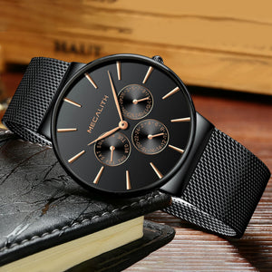 Megalith Men Watches with mesh band