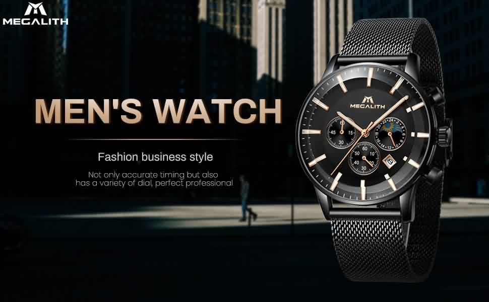 Megalith 8089M Fashion Mesh Watch with Men - New Wrist Watch Release