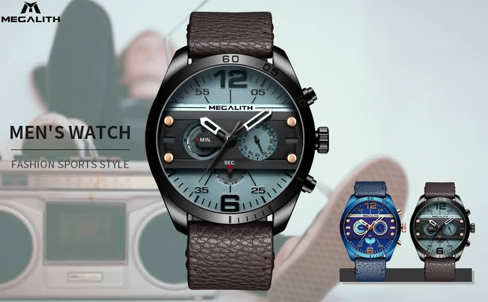 Megalith 8072M Classic Leather Watch for Men - New Wrist Watch Release