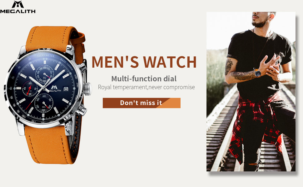 Megalith 0050M Sport Watch with Big Face for Men - New Wrist Watch Release