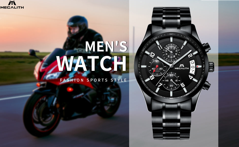 Megalith 0034M Fashion Sport Watch with Big Face for Men - New Wrist Watch Release