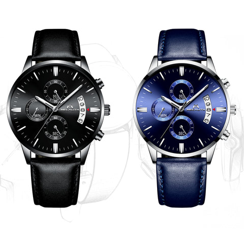 Megalith 8008M Fashion Classic Leather Watch with for Men - New Wrist Watch Release