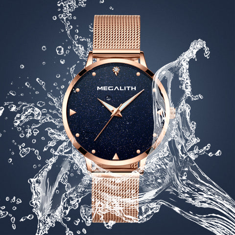 Megalith 8002M Classic Mesh Elegant Watch with for Women - New Wrist Watch Release