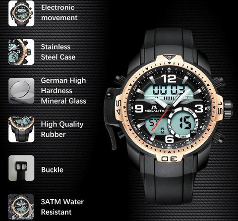 Rubber Men Watches Collection
