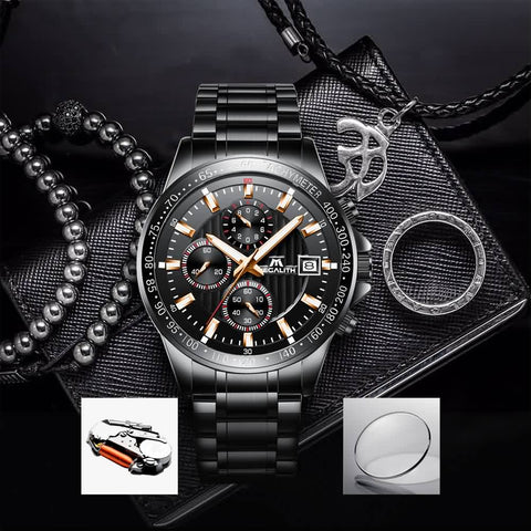 Megalith 8033M Hight Quality Stainless Steel Business Watch with for Men - New Wrist Watch Release