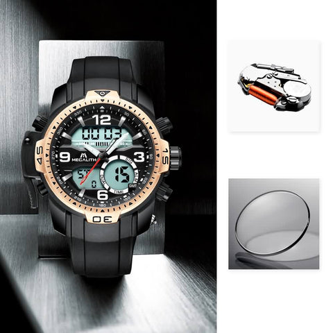 Megalith 8067M Rubber Casual Watch for Men - New Wrist Watch Release