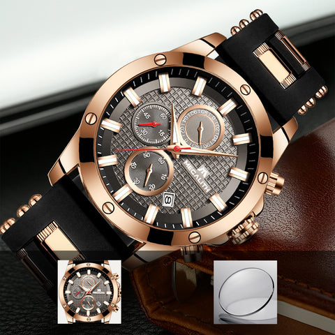 Megalith 0140M Rubber Stainless Steel Luminous Watch with for Men - New Wrist Watch Release