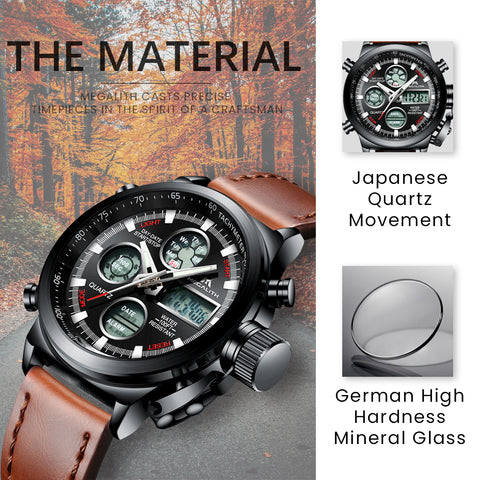 Megalith 0031M Sport Watch with Big Face for Men - New Wrist Watch Release