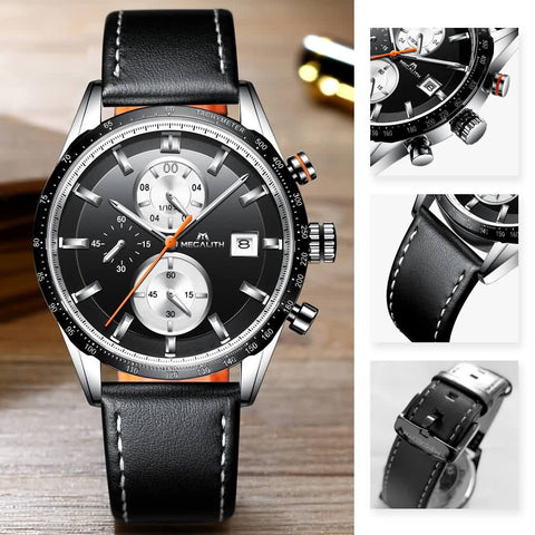 Megalith 8034M Classic Quality Leather Watch with for Men - New Wrist Watch Release