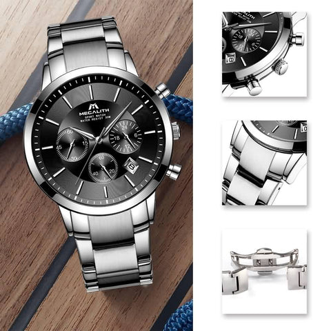 Megalith 8043M Classic Quality Stainless Steel Watch with for Men - New Wrist Watch Release