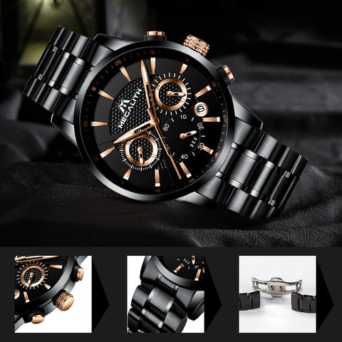 Megalith 8007M Classic Stainless Steel Watch with for Men - New Wrist Watch Release