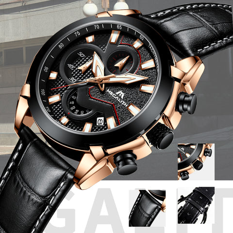 Megalith 8012M Fashion Classic Leather Watch with for Men - New Wrist Watch Release