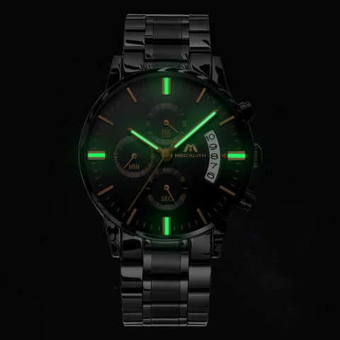 Megalith 0105M Business Watch with Fashion Luminous for Men - New Wrist Watch Release View