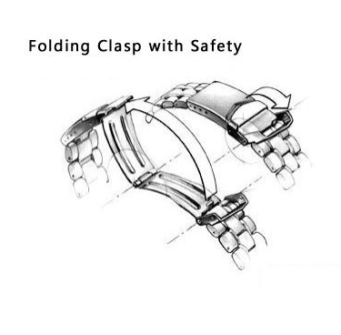 folding clasp with safety of men watches