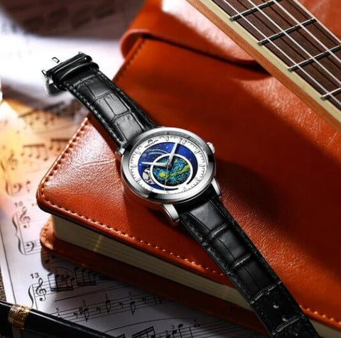 men's leather watches