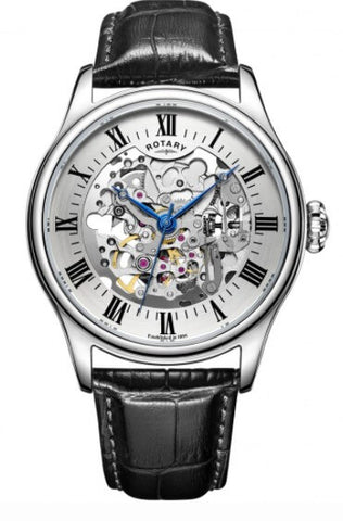 Rotary Mecanique Vintage Skeleton Automatic Watch
