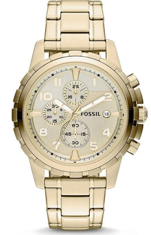 Fossil Dean Gold-Tone Chronograph Watch