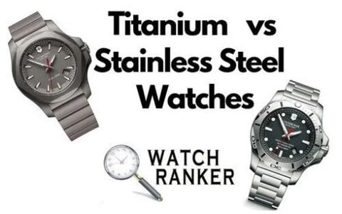 Titanium and Stainless Steel versions of the same watch