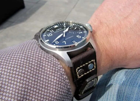 A large watch on a small wrist can be unsightly