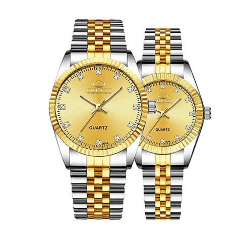 Mastop Swiss Brand Two-Tone Watch Men Women