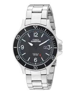 Timex Men's TW4B10900 Expedition Ranger Silver/Black Stainless Steel