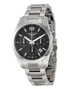 Longines Conquest Classic Automatic Black Dial Stainless Steel