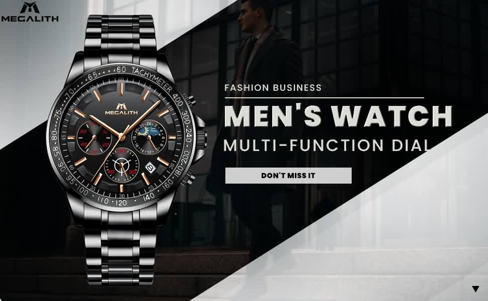 Megalith 8091M Stainless Steel Classic Watch with Men - New Wrist Watch Release