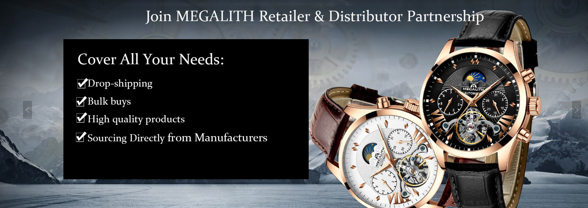 megalith watch retailer distributor partnership