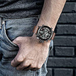 Load image into Gallery viewer, 0031M | Quartz Men Watch | Leather Band-megalith watch