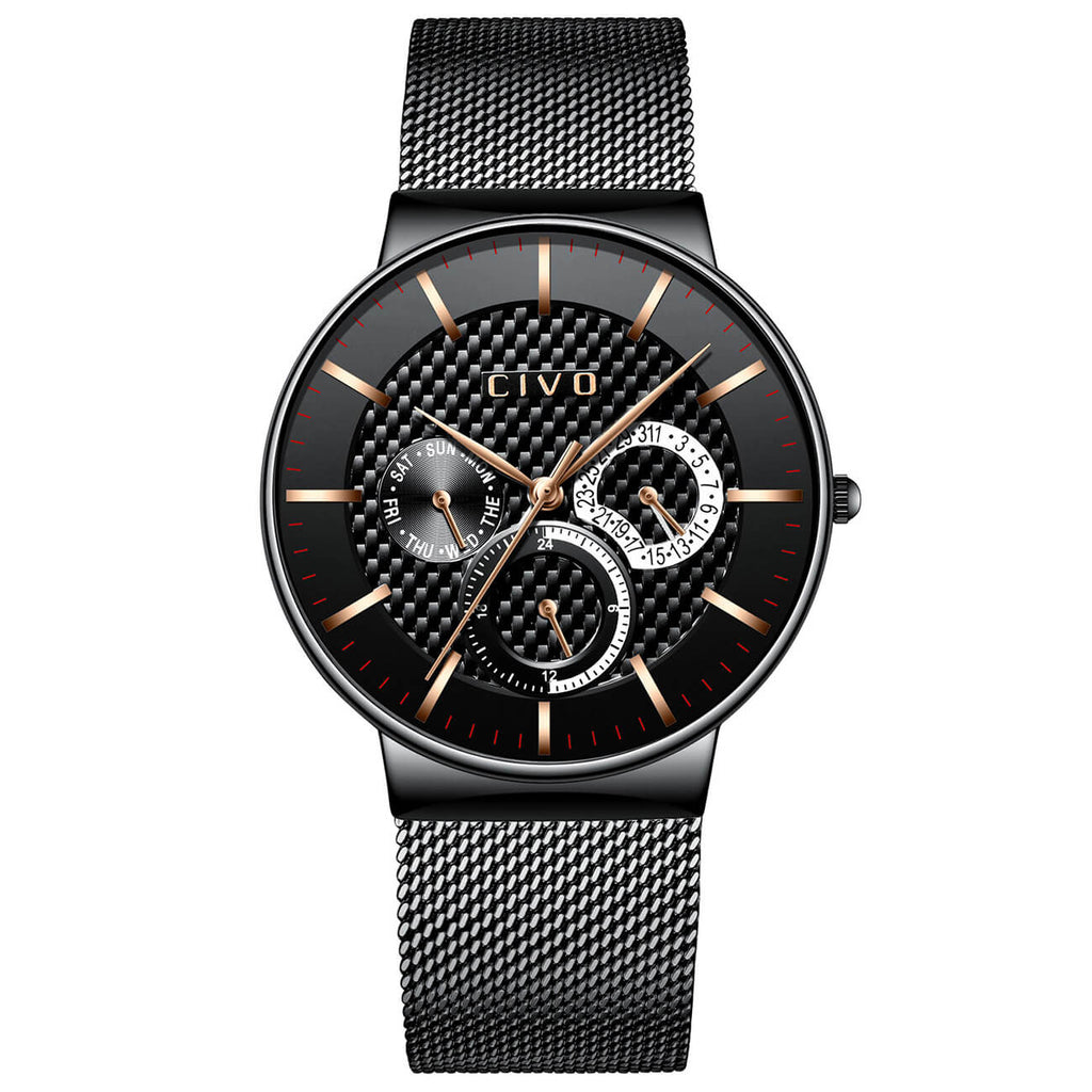 0047C | Quartz Men Watch | Mesh Band-megalith watch