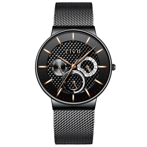 0047C | Quartz Men Watch | Mesh Band