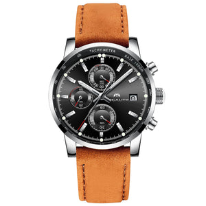 0050M | Quartz Men Watch | Leather Band-megalith watch