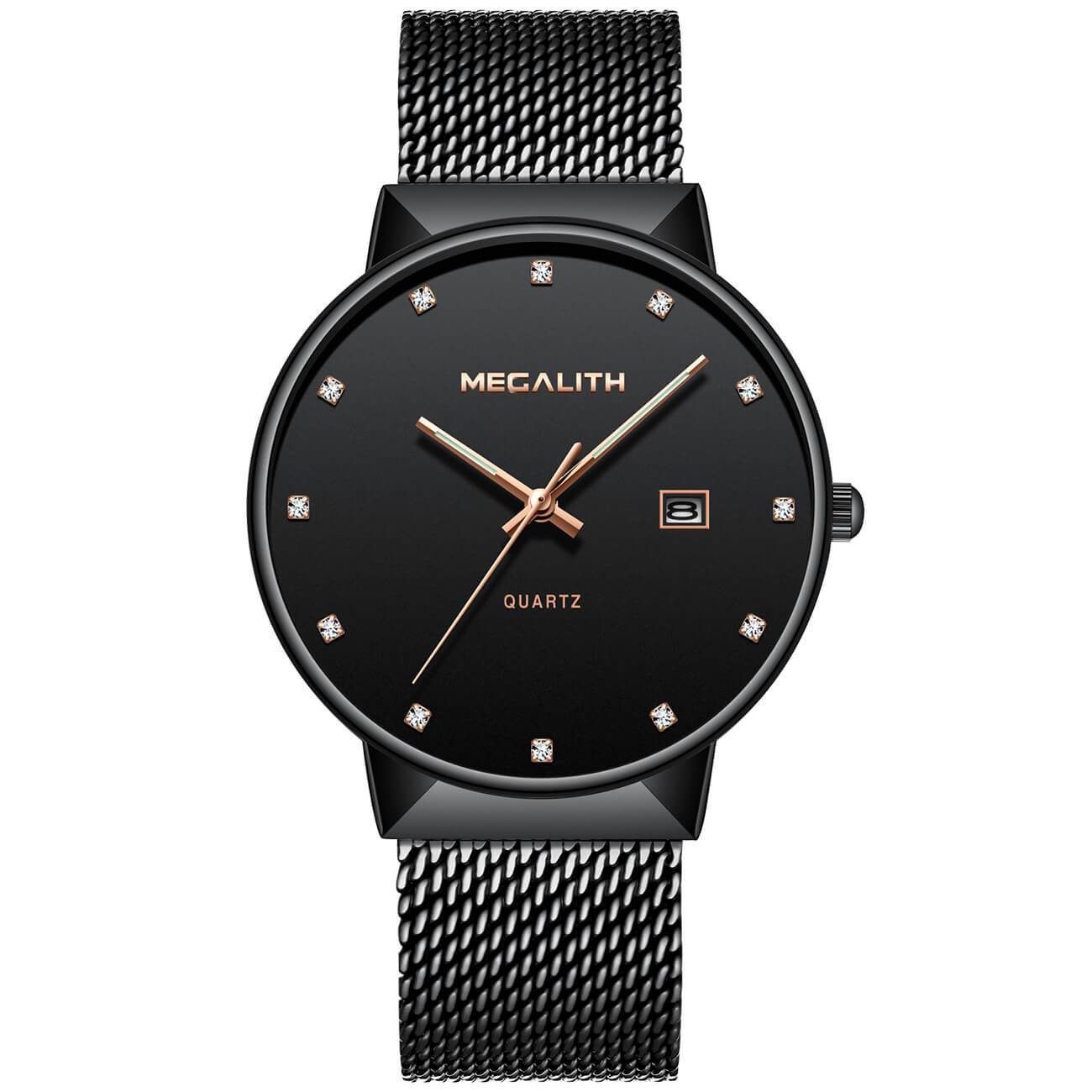 0090M | Quartz Men Watch | Mesh Band-megalith watch
