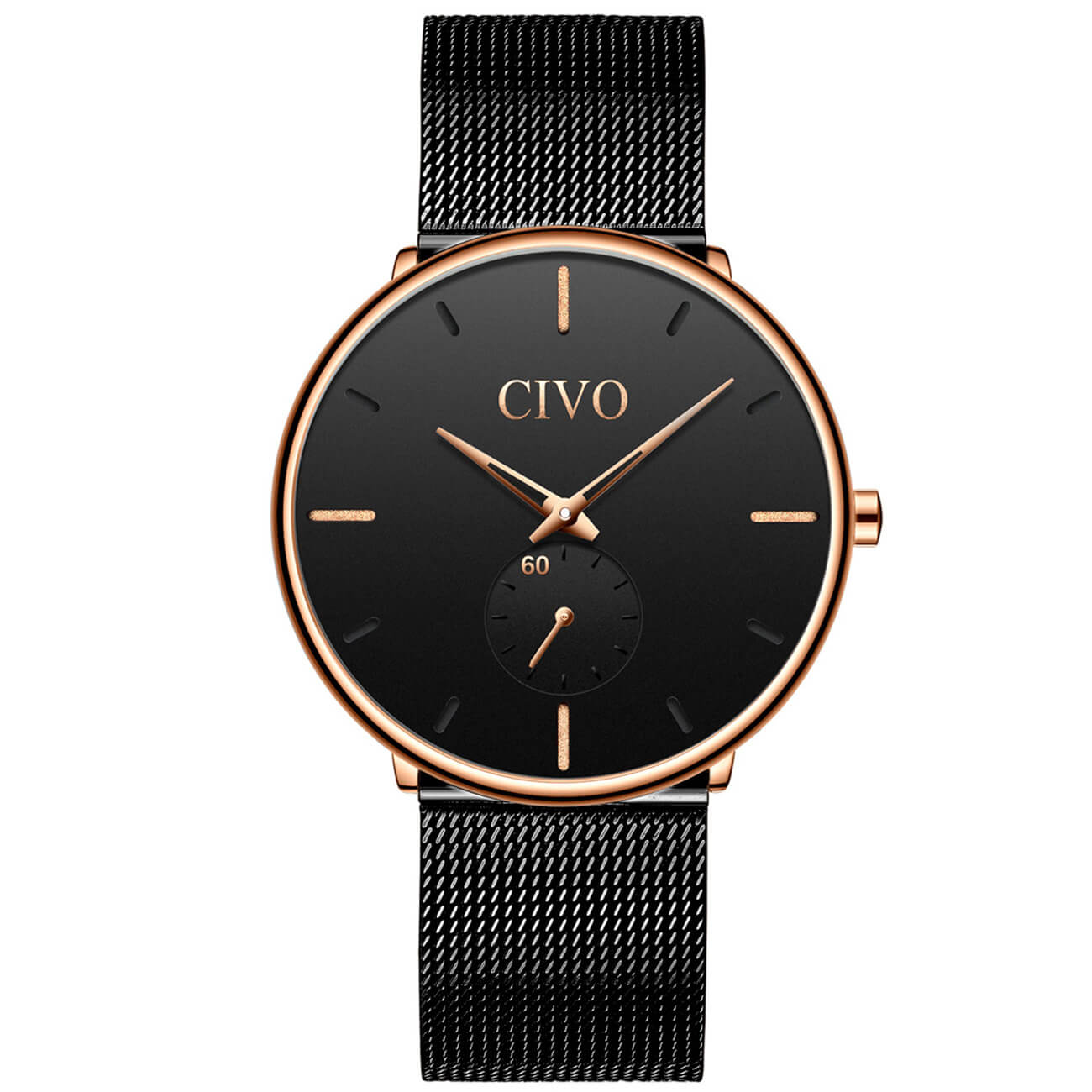 0124C | Quartz Men Watch | Mesh Band