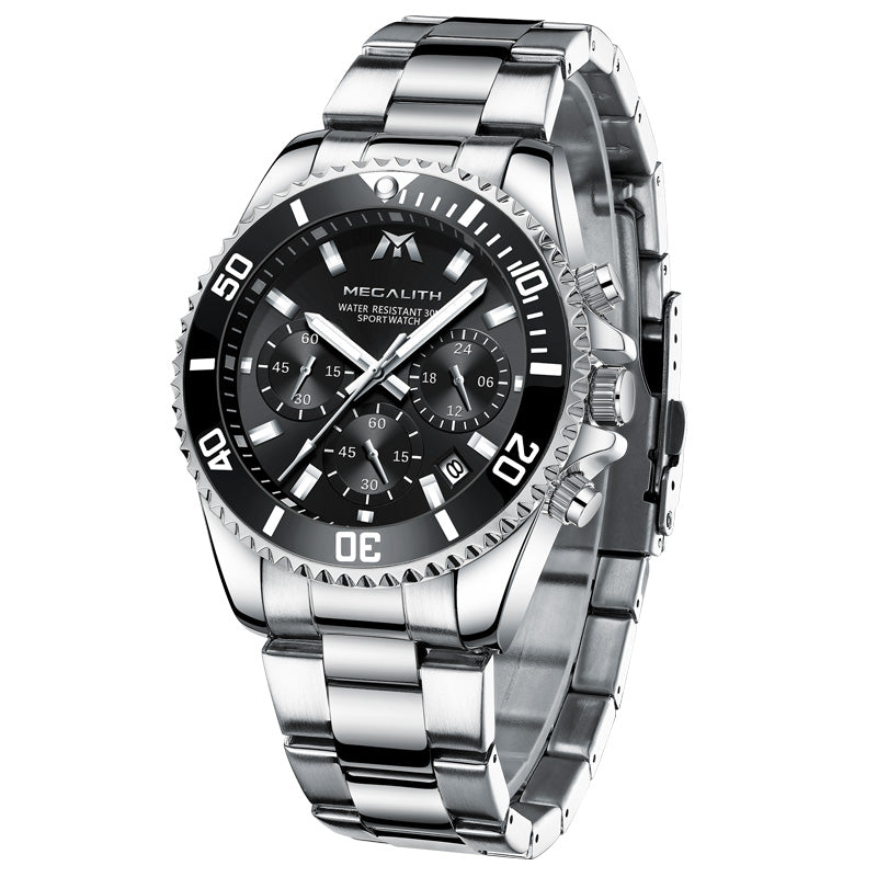 8046M | Quartz Men Watch | Stainless Steel Band-megalith watch