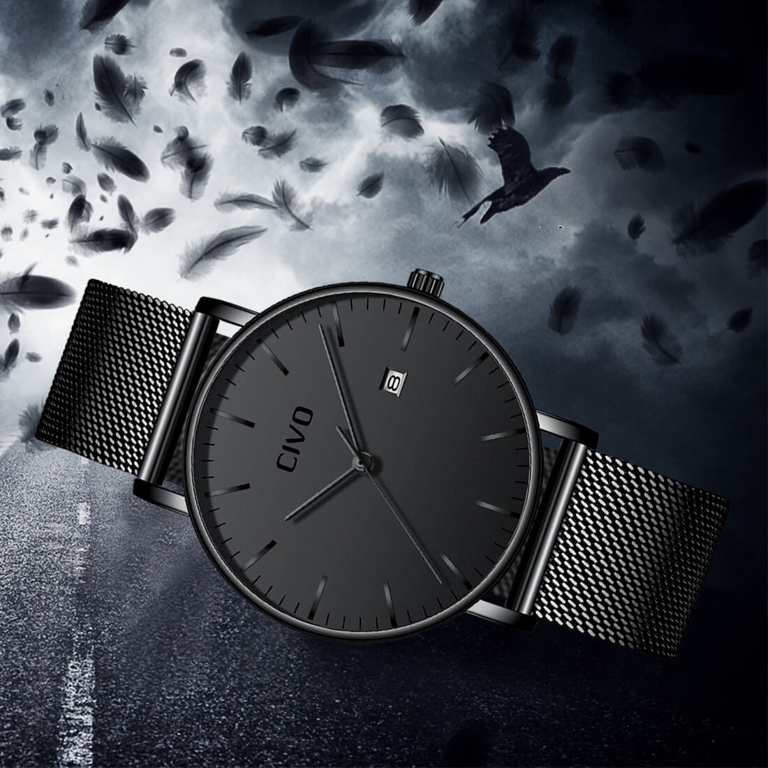 8029C | Quartz Men Watch | Mesh Band-megalith watch