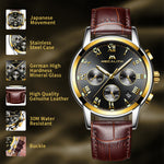 Load image into Gallery viewer, 0060M | Quartz Men Watch | Leather Band-megalith watch