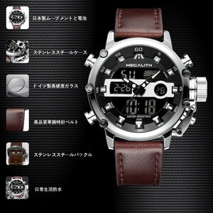 8051M | Quartz Men Watch | Leather Band-megalith watch