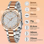 Load image into Gallery viewer, 8117C | Quartz Women Watch | Stainless steel Band-megalith watch
